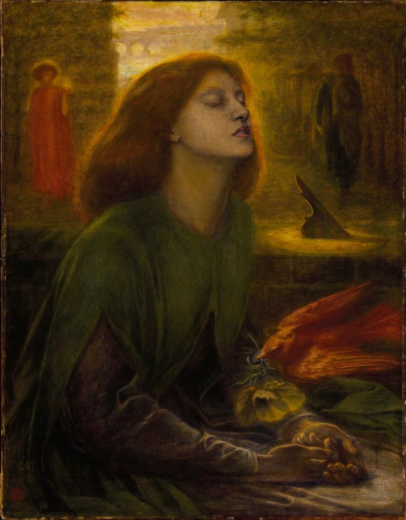 "Dante Gabriel Rossetti, ""Beata Beatrix"", 1864-1870 (Berlino, Tate Britain)"