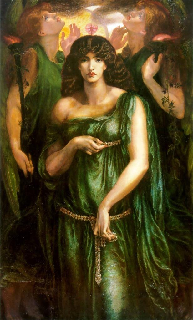 "Dante Gabriel Rossetti, ""Astarte Syriaca"", 1877 (Manchester Art Gallery)"