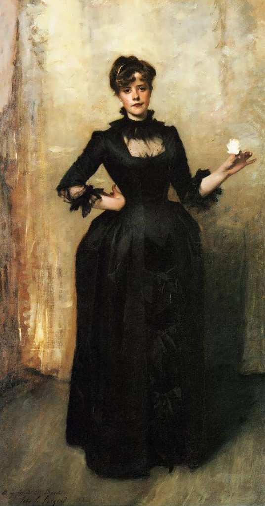 "John S. Sargent, ""Ritratto di Miss Burckhardt (Signora con una rosa)"", 1882 (New York, Metropolitan Museum of Art)"