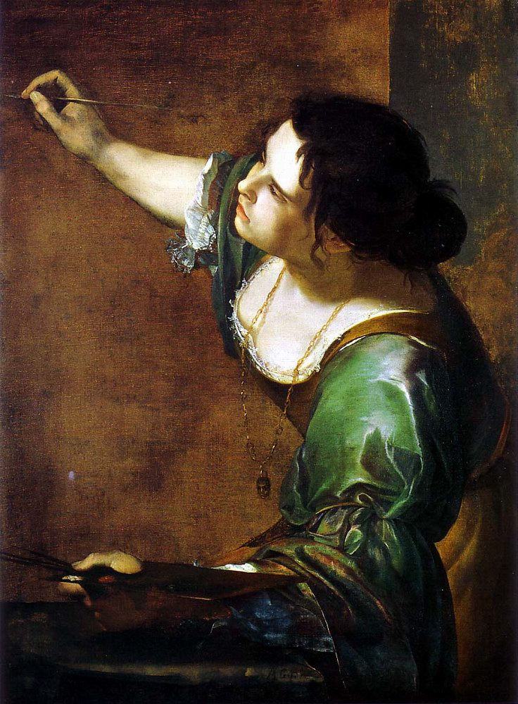 "Artemisia Gentileschi, ""Autoritratto come allegoria della Pittura"", 1638-39 (Windsor, Royal Collection)"