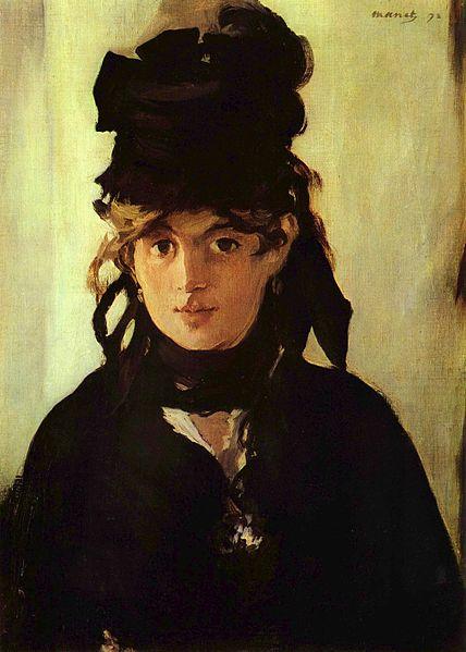 """Édouard Manet, """"Berthe Morisot con un mazzo di violette"""", 1872 (Parigi, Musée d'Orsay)"""