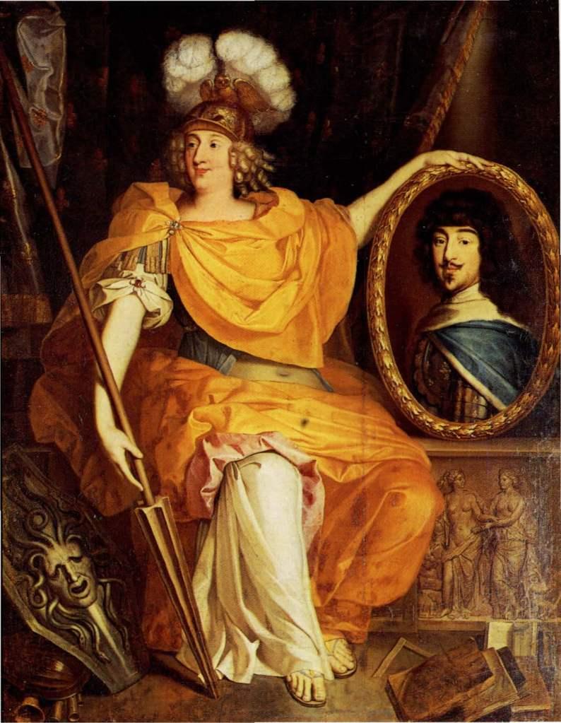 """Pierre Bourguignon, """"Anne-Marie Louise d'Orléans in veste di Minerva"""", 1672 (Reggia di Versailles)"""