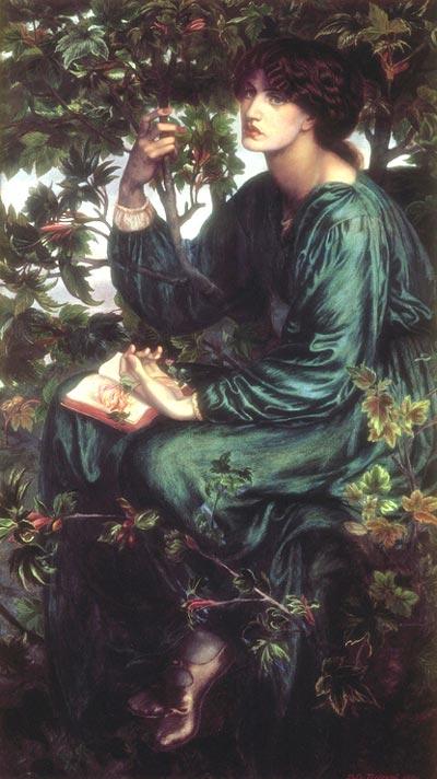 Dante Gabriel Rossetti, Sogno ad occhi aperti [Jane Morris], 1880 (Londra, Victoria and Albert Museum)